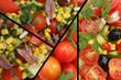 Salade Catalane : Anchois tomate cerise  olive ..