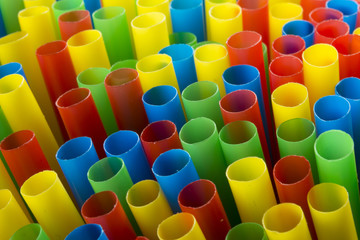 colourful drinking straws