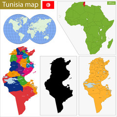 Tunisia map