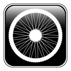Bicycle wheel icon