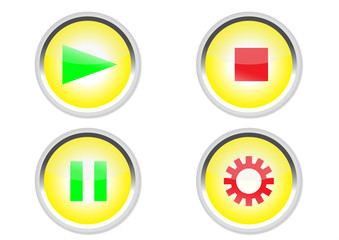 media buttons icon