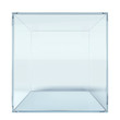 Empty glass cube - 69125307