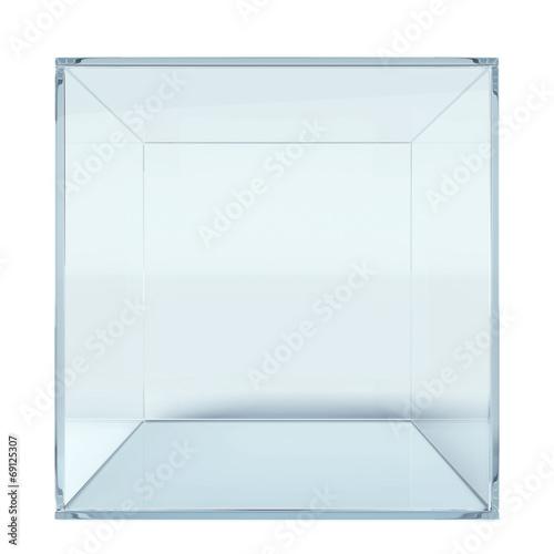 Empty glass cube - 69125307