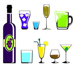 Colors drinks icon