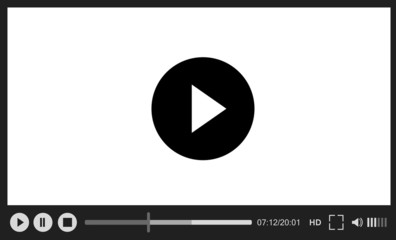 Web player on white background