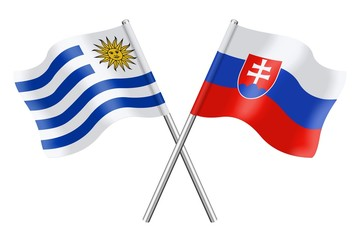 Flags : Uruguay and Slovakia