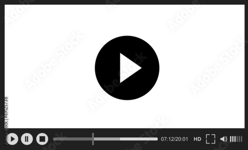 Web player on white background - 69125738