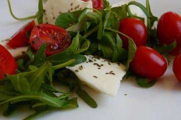 healthy Food vegetables fresh arugula tomatos