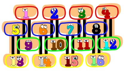 numbers for kids to learn background