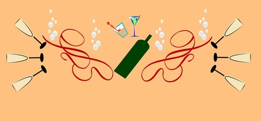 wine time background