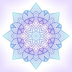 Linear geometric mandala.