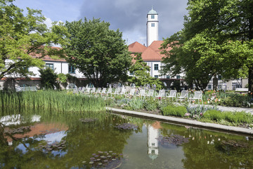 Augsburger Hofgarten mit Teich