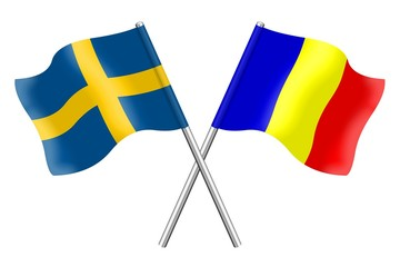 Flags : Sweden and Romania