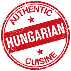 hungarian cuisine stamp