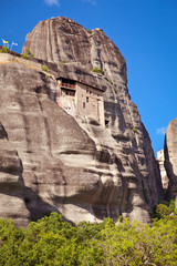 Rocky Monastery at Meteora in Trikala, Greece.