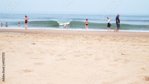 canvas print picture people a the beach