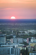 Sundown over Warsaw city