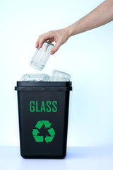 Container for recycling - glass