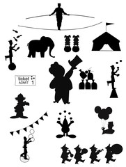 circus silhouettes