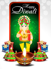 Diwali Festival Background With Ganesh g