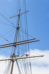 Masts of a old  big sailingboat