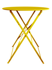 Folding Table Yellow