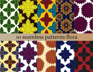 ten patterns seamless backgrounds