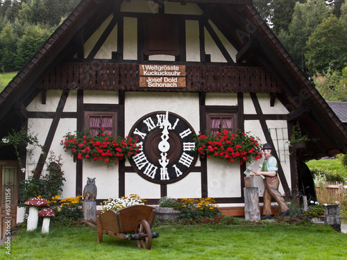 Clock House in Bavaria, Germany - 69131156