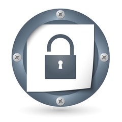 dark abstract icon with paper and padlock