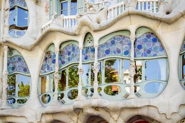 Modernist Casa Batllo facade, in Barcelona, Spain