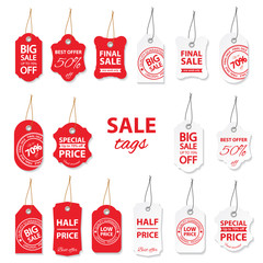 Sale labels big set.