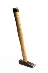 Pin hammer standing vertical