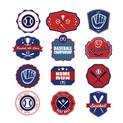 Baseball badges set. Illustration eps10