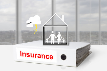 office binders home insurance family storm
