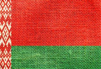 belarus flag sackcloth texture