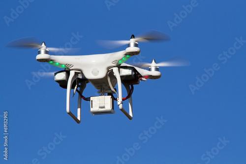 Poster Drone - UAV - flying in the sky