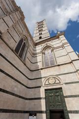 Siena Duomo, Tuscany. Front View.