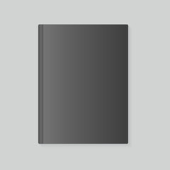 blank book cover in dark variant, vector