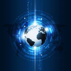 Concept Global Communication Technology Background
