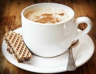 Cappuccino Coffee with Cinnamon