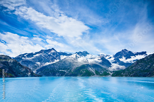 In de dag Gletsjers Glacier Bay in Mountains in Alaska, United States
