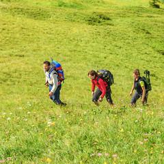 Wanderer beim Aufstieg