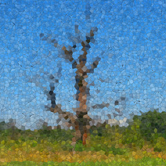 Tree glass mosaic generated texture