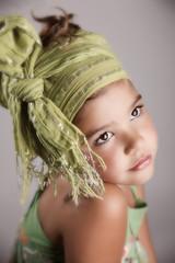 Portrait of a beautiful hopeful little girl