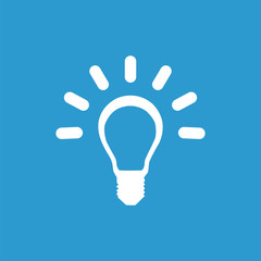 idea icon, white on the blue background .