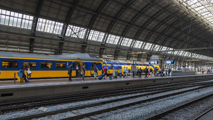 Amsterdam, Netherlands. The Central Railway station