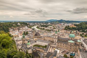 Aerial View of Salzburg in Austria