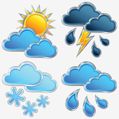 vector set weather icon