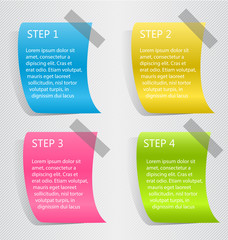 Modern 3d infographic colorful design template with shadow