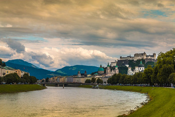 View of Salzburg and River Austria